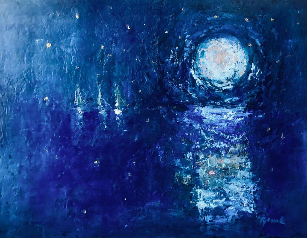 Tylecek - Nuit étoilée - 92x73cm